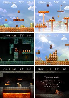 How tits would it be if Nintendo did a full HD upgrade to their NES classics?! Super Mario Bros HD by *JINNdev on deviantART