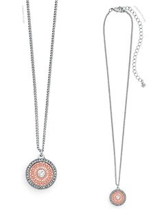 mg-20740-Lacy. Frame Lacy with our Hampton necklace for a Rose gold and  Silver look that is sure to get you compliments!