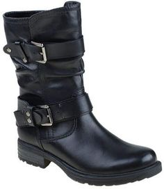 Earth Everwood Mid Calf Boot. Low Heel BootsBlack Biker BootsWomens Biker BootsBlack  Mid Calf BootsBlack Leather ... 991bb2be12762