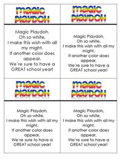 Free Magic play dough recipe for first day of school