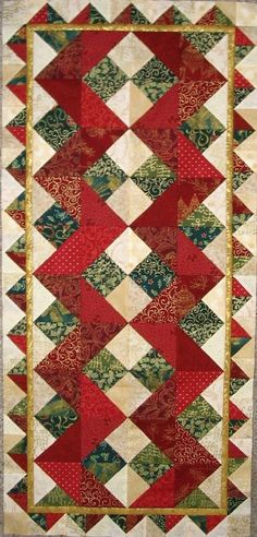 This table runner could be worked up in many different color combos. …