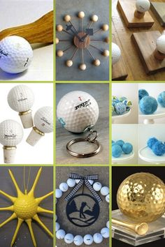 Golf Girl's Diary has found some great ideas for recycling golf balls - Creative Crafters Give New Life to Old Abandoned Golf Balls #golfballs