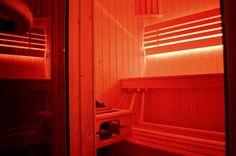 Small two person sauna in small apartment in Krakow