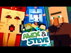 Join Alex and Steve as they take on the world of Minecraft! Funny Minecraft Videos, Real Minecraft, Minecraft Toys, Make Your Own Monster, English Caption, Monster School, Lego For Kids, Stupid Funny, Cute Drawings