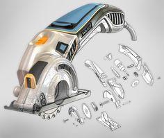 Product design sketching: BAUSS | Mini Circular Saw sketch