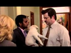 "▶ Tom Haverford the Puppy - I will never be able to watch this video and not laugh. ""I'm just a puuuuuppy."""