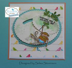 The Coloring Design Team Designer Challenge for May is to create a card using Joset Designs Sliders and Spinners die set with any stamp set. Spinner Card, Slider Cards, Elizabeth Craft Designs, Paperclay, Something Beautiful, Sliders, Beautiful Flowers, Card Stock, Card Making