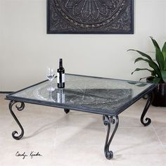 Uttermost Ottavio Charcoal Brown Coffee Table