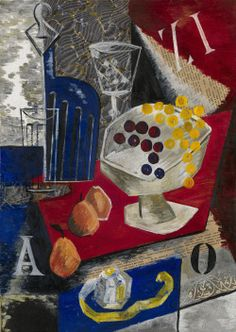 Alexandra Exter (Russian, 1882-1949), Still Life, c.1912. Oil, tempera and collage on canvas, 50 x 36 cm.