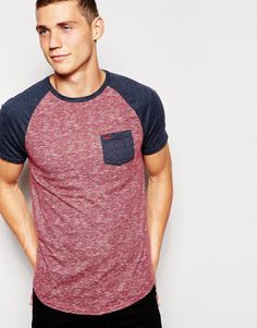 Image 1 of Hollister T-Shirt With Contrast Sleeves