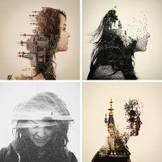 everywhere art: Photography Trend: Double Exposure Portraits