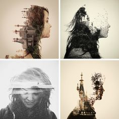 everywhere art: Photography Trend: Double Exposure Portraits