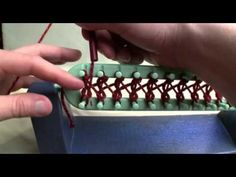 Learn how to do a Twisted Stockinette Stitch on a Knifty Knitter or Crafting Essentials Straight Loom.