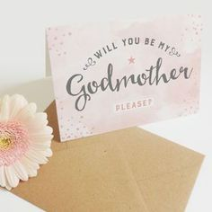 Will You Be My Godmother? Card - christening invitations