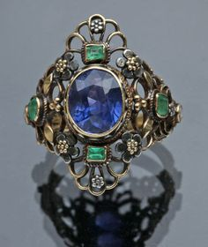 anel, art nouveau, A & G Gaskin, 1905