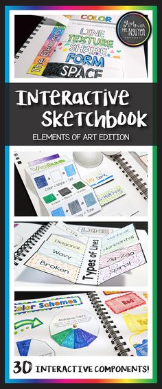 Interactive Sketchbook Elements of Art (Art with Mrs. Nguyen)