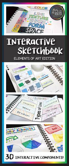 Interactive Sketchbook Elements of Art (Art with Mrs. Nguyen)