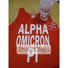 AOPI Bid Day Package available today in stores or online! Bid Day Gifts, Online Gifts, Graphic Tank, Sorority