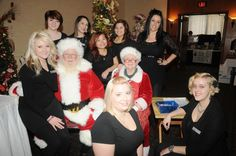 Santa and Mrs Claus  with the future professionals from The Academy Waukesha/Paul Mitchell Partner School who came and did hair, mini-makeovers and face-painting for the children at Trees of Hope WI festival at the Radisson Hotel Mayfair