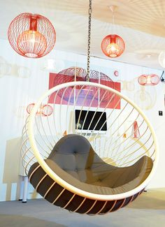 Hanging Bubble Chair from Rousseau Design Wire Collection at 100% Design show at Earls Court, September 2014
