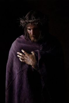 Then came Jesus forth, wearing the crown of thorns, and the purple robe. And Pilate said to them, Behold the man! - John 19:5Art: Chris Young