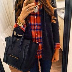 Love this plaid shirt!