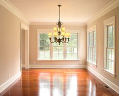 If you're considering a bit of extra flair to a room, crown molding might just be the answer. Installing crown molding gives your space an elegant look, but it can greatly improve your ROI. See a few unique crown molding ideas. Renovation Paris, Moldings And Trim, Crown Moldings, Moulding, Baseboard Molding, Shoe Molding, Baseboard Styles, Floor Molding, Wainscoting