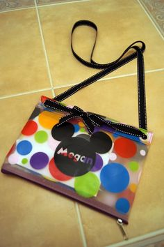Disney Character Autograph Book and bag