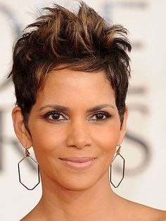 Halle Berry Halle Berry is the queen of the pixie, and her textured, messy pieces feel surprisingly fresh and funky.