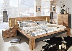Bettanlage Davos Wildeiche Graphit 8322. Buy now at https://www.moebel-wohnbar.de/futonbett-davos-mit-nachtkommoden-bettanlage-wildeiche-graphit-8322.html