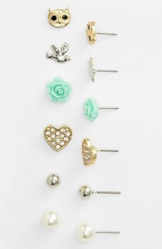 Carole Stud Earrings (Set of 6) available at #Nordstrom