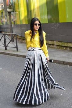 Outfits from 6 of the Most Stylish Royals: Princess Sirivannavari Nariratana of Thailand - thai princess yellow black and white look; Thailand Princess, Thai Princess, Princess Style, Thai Dress, Vogue Magazine, Ao Dai, Dance Dresses, Everyday Outfits, Traditional Dresses