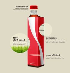 excellent redesign of Cola-Cola bottle which among several other advantages also saves money and natural resources. EcoCoke!