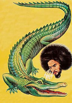 Defies Description. ( Illustration / aligator / yellow / art )