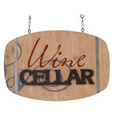 This stunning wooden sign is shaped like a barrel. The sign is double sided, so both sides have Wine painted on the wood and Cellar is in raised letters. It also has metal straps inset into the wood for an authentic look. Garden Plaques, Wine Painting, Wine Signs, Wine Decor, Hanging Signs, Finding A House, Country Primitive, Door Signs, Wine Cellar