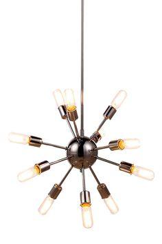 Cork 12 Light Pendant Lamp in Polished Nickel Finish 1134D21PN