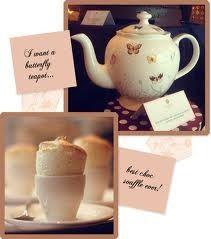 Tea cup souffle