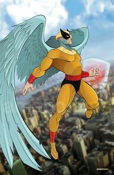Bird Man Old School Cartoons, Retro Cartoons, Classic Cartoons, Cartoon Video Games, Cartoon Tv Shows, Hanna Barbera, Comic Kunst, Comic Art, Harvey Birdman