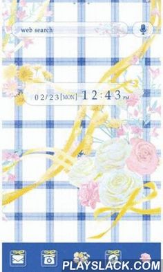 Icon & Wallpaper-Blue Gingham-  Android App - playslack.com , Hugely Popular Wallpaper & Icon Personalization App!FREE Personalization App for [+]HOME!Refreshing gingham design adorned with pretty flowers. Perfect for a springtime picnic!①Easy-to-use wallpaper and icon customization♪②Personalize everything including your clock and widgets!③Photo frame and decoration features to help you find your own style!④Tons of FREE themes to choose from! Choose a new theme every…
