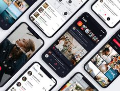 Sienna iOS UI Kit High quality pack of iOS screens in social categories. Ui Design Mobile, Mobile Application Design, App Ui Design, User Interface Design, Web Design, Android App, Ios Ui, App Design Inspiration, Mobile App Ui