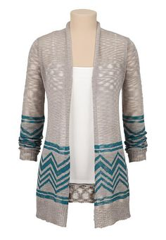 open front chevron cardiwrap (original price, $34) available at #Maurices