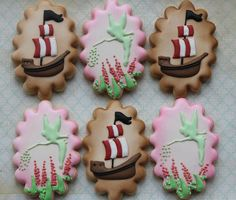 Tinkerbell and pirate cookies by Miss Biscuit | Flickr - Photo Sharing!