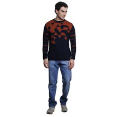 Buy MSG Navy Round Neck Sweater Online at cheap prices from Shopkio.com: India`s best online shoping site