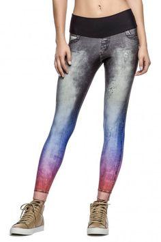 Calça Legging Color Denim • LIVE! • #shoponline #fitness #legging #jeans