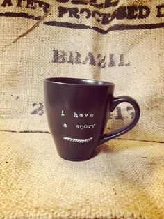 I have a story COFFEE mug by pourLOVE on Etsy