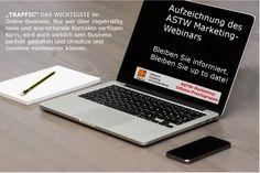 Wir von ASTW - Marketing werden alle neuesten Techniken, Trends, Tipps und Tricks behandeln auf unsere Live Info-Webinare!