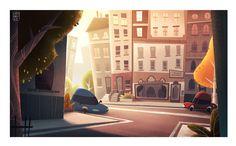 ArtStation - Cartoon city graphic background, Massimo Di Leo