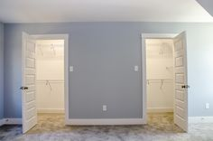 Master bedroom with his and hers walk in closets #closetideas #Balducci Builders, Inc.