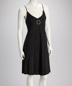 471c373709fb Classic black dress Take a look at this Black Ring Detail Dress by Raya Sun  on