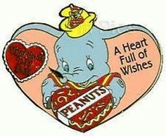 WDW LE VALENTINES DAY SWEETHEART COLLECTION DUMBO DISNEY PIN ON CARD BACKING